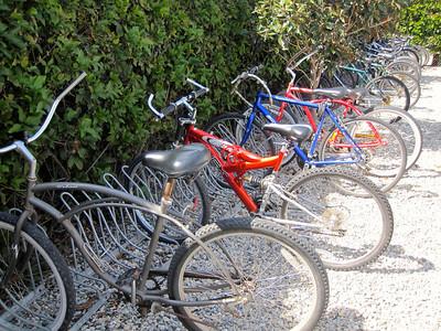 Bike racks are almost full at Kitson