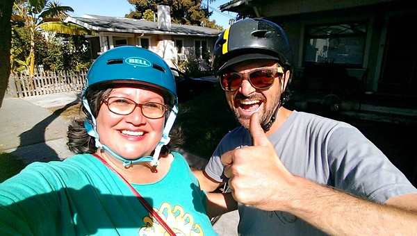 New bike commuter: Cathy Murillo