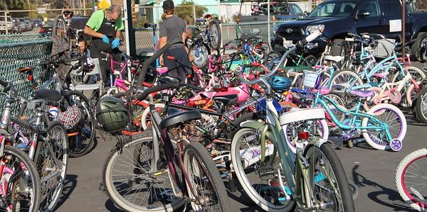 Many bikes need repair