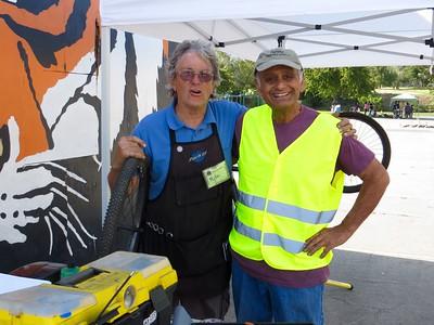 Our master bike mechanics Mike & Joe