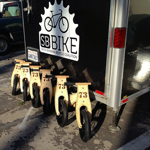 6 new donated Prince Lionheart balance bikes ready to roll