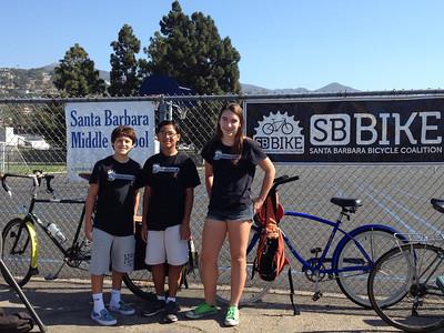 Thank you Bike Monkeys for your help (photo by Sue Carmody)