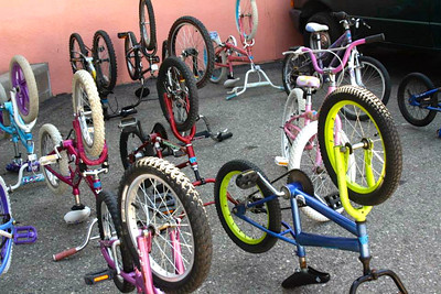 Loaner bikes from Adams School (photo from FB)