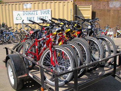 14 bikes are ready for the Eastside Rides.