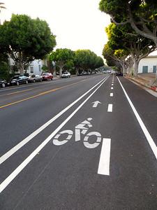 Bike lane in Santa Monica