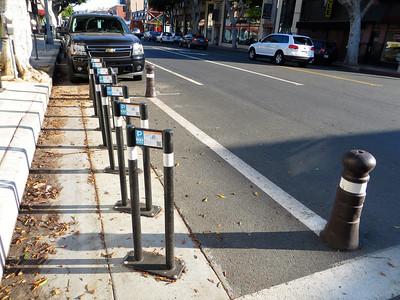 Bike parking in Santa Monica