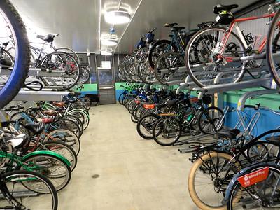 Bike parking at the Bike Center http://bikeandpark.com/city/santa-monica