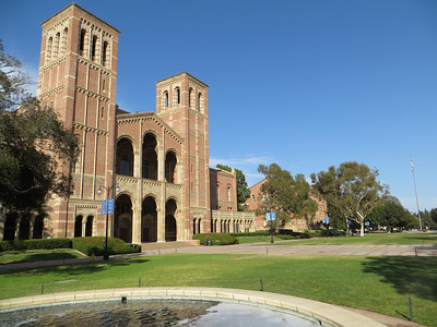 Ride from Santa Monica to UCLA. Exterior of Campus Building, Kaufmann Hall.