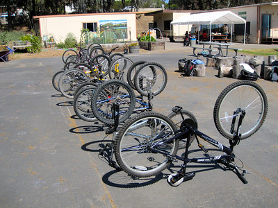 Bikes donated by Bici Centro & repaired by 5th & 6th graders
