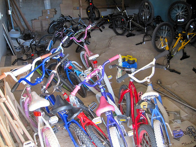 Fleet of bikes for PE classes (1st-2nd grades)