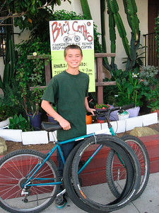 Will (Youth EAB): Today, Will is going to change the tires on his bike