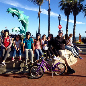 Riding to the Dolphin Fountain