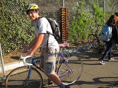 Friendly road biker