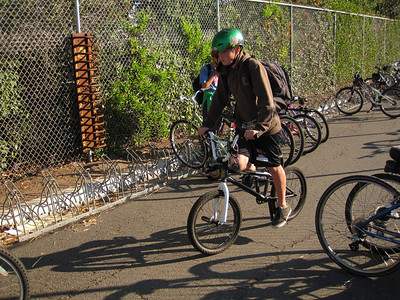 BMX rider with a helmet