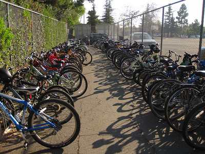 Bike cage at GVJH is full  http://www.gvjh.org/
