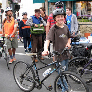Participants rode from Goleta Valley Junior High to downtown Santa Barbara in order to attend the Bike From Work event.