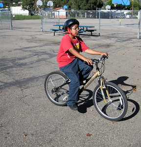 Student who didn't know how to ride a bike at the beginning of the program