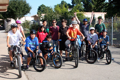 Group photo: thanks to Cranky's for the BMX demo