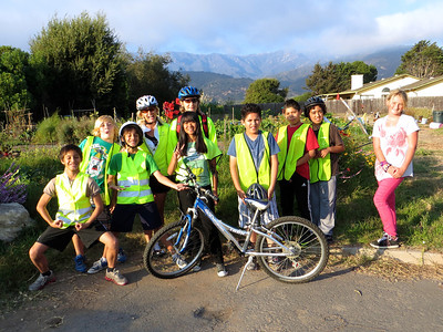 Group photo at the Community Garden in Carpinteria