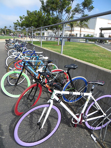 Some cool bikes at Carpinteria Middle School