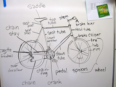 Learning bike parts