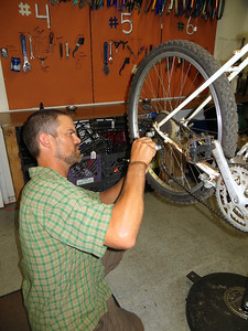 Some derailleur adjustment: thanks Mike!