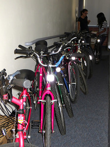 Thanks to a teacher at Fesler who offered the back of her classroom to store our fleet of bikes for 6 weeks