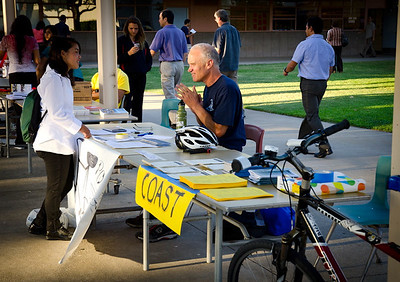 Back to School Night: Dan is promoting Pedal Power and recruiting participants