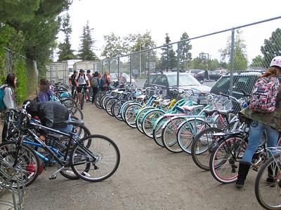 Bike cage at GVJH