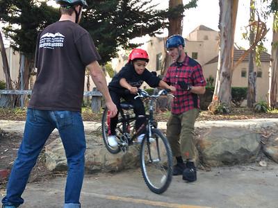 Chris & John spotting a Pedal Power participant