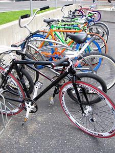 Bike rack at Carpinteria Middle School