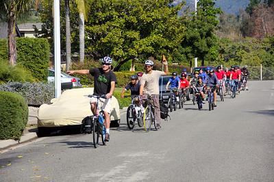 Group ride around Goleta