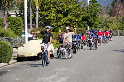 Group ride around Goleta
