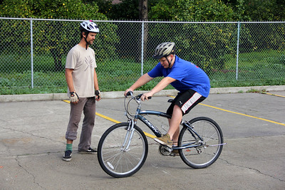 Bike clinics with Boy Scouts (Troop 37)