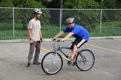 Bike clinics with Boy Scouts (Troop 37)