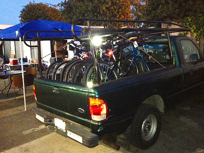 Truck after a Youth Bikes Build event