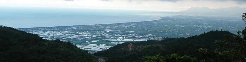 從山凹看蘭陽平原