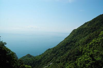 爬蘇花雖累,還是得保持愉快心情欣賞沿途風景