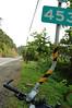 本日最大挑戰:南迴公路達仁--壽卡,短短8公里路要爬升超過400公尺。這邊是台九線453公里處,GPS的高度計顯示海拔已經超過400公尺了