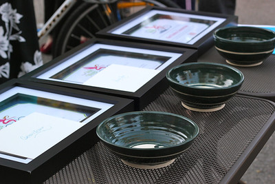 Velo Wings Awards & beautiful bowls (made by Scott Chatenever in Ojai) Photo taken by Janessa Schueler