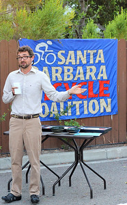Ed France, executive director, Santa Barbara Bicycle Coalition Photo taken by Janessa Schueler