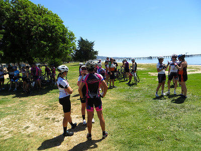 Socializing at Goleta Beach