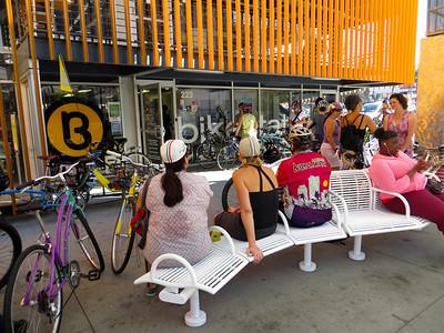Group ride around Long Beach