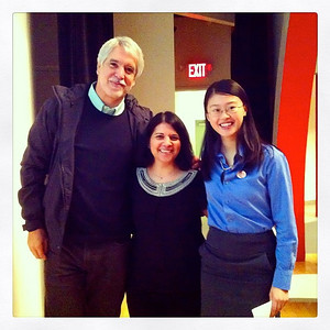 Enrique Penalosa (former Mayor of Bogota, Colombia), Pasqualina Azzarello (Executive Director: Recycle-A-Bicycle) and Devlynn Chen, Local Spokes Youth Ambassador.