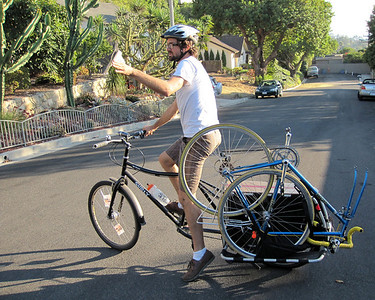 Carrying a bike on a Xtra-cycle