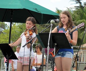 Ella playing the violin
