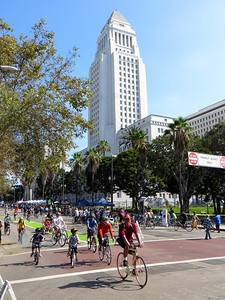 Los Angeles City Hall http://en.wikipedia.org/wiki/Los_Angeles_City_Hall