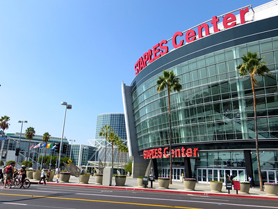 Staples Center, a multi-purpose sports arena in Downtown Los Angeles. http://en.wikipedia.org/wiki/Staples_Center