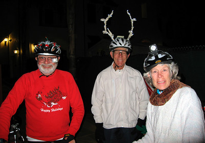 Ralph the president of the Bicyccle Coalition put some nice antlers on his helmet.  http://www.sbbike.org/