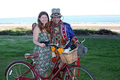 Christa & shaman at Leadbetter Beach